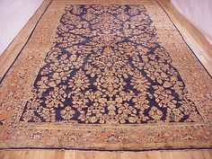 "Persian: Floral 21' 2"" x 12' 0"" Antique Mohajeran Sarouk at Persian Gallery New York - Antique Decorative Carpets & Period Tapestries"