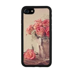 Vintage-style Rose Flower iPhone 7 Rubber Case iPhone 7 Rubber Case... ($22) ❤ liked on Polyvore featuring accessories and tech accessories