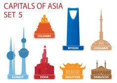 Download this free printable to help your child remember seven of Asia's country's capitals! Not only will your child recall the capitals