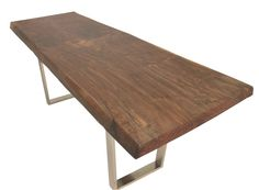 Best Coffee Tables Images On Pinterest Painted Furniture - Reclaimed wood and chrome coffee table