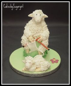 knitting sheep cake - claudia behrens by Claudia Behrens ~ Cakes, via Flickr