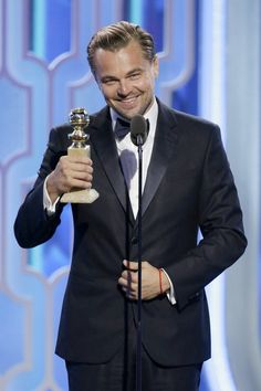 Pin for Later: The 38 Hands-Down Best Photos From the Golden Globes  Pictured: Leonardo DiCaprio