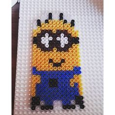 Minion hama beads by Jennifer Minions, Diy Perler Beads, Animation, Despicable Me, Instagram Accounts, Beading Patterns, Projects To Try, Sprites, Super Heros