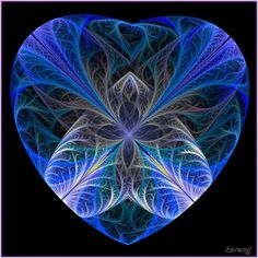 Heart by Lupsiberg ~ fractal art blue valentine Fractal Geometry, Fractal Art, Sacred Geometry, Creative Pictures, Creative Art, Valentines Art, Flower Of Life, Pottery Painting, Psychedelic Art