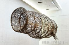 Fish Trap sculpture - by Maningrida - Urban Art Projects National Gallery of Australia