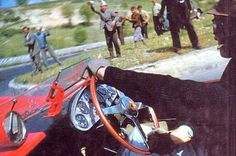 Peter Collins photographed by Louis Klemantaski aboard their Ferrari during the ill-fated 1957 Mille Miglia… This stunning, evocative shot, one of motor racings' most famous, was t… Sports Car Racing, Sport Cars, Race Cars, Real Racing, Motor Sport, Auto Racing, Ferrari Racing, Ferrari Car, Le Mans