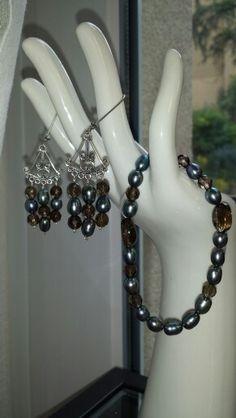 grüne Perlen mit Rauchquartz, so edel Beads, Schmuck