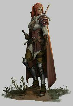 Female Ranger - Pathfinder PFRPG DND D&D d20 fantasy