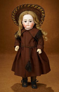 Bittersweet - October 28-29, 2017 in Scottsdale, Arizona: 142 German Bisque Child Doll, X Series, with Closed Mouth by Kestner