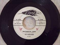 Baritones - Sentimental Baby - Rare Late 50's Ballad