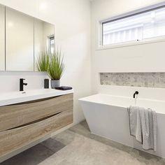 B a t h r o o m s 🛀 A stylish and practical family bathroom . Design build by . Bathroom Niche, Family Bathroom, Laundry In Bathroom, Bathroom Renos, Grey Bathrooms, Bathroom Renovations, Modern Bathroom, Small Bathroom, Shower Niche