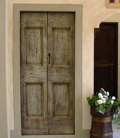 Galluzzi Walter falegnameria artigianale per restauro e creazione di porte interne classiche in massello rustico realizzato con legno antico...