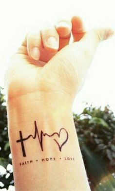 This one on my wrist in white ink..  Yep yep and Breathe underneath in black ink..O ya..