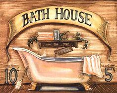 "Product ID#: 73916  Title: Bath House  Artist: Becca Barton  Type: Fine-Art Print  Paper Size: 10"" x 8"""