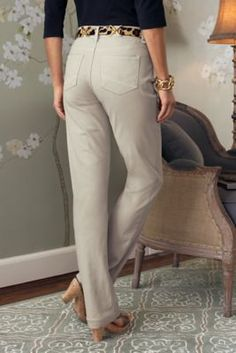 Not Your Daughter's Jeans Hayley Straight Leg Twill Pants - Nydj Hayley, Nydj Twill Pants, Nydj Straight Leg Pants | Soft Surroundings