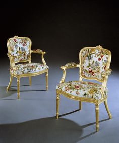 Masterpiece London 2013.  Ronald Phillips.  A PAIR OF GEORGE III GILTWOOD ARMCHAIRS ATTRIBUTED TO THOMAS CHIPPENDALE