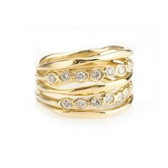 In love with this Ippolita gold and diamond ring.