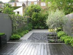 innenho vorgarten naturstheine olivenbäume kletterpflanzen