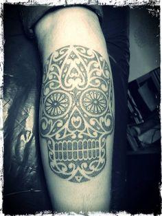 27-caveira-mexicana-maori-tatuagem
