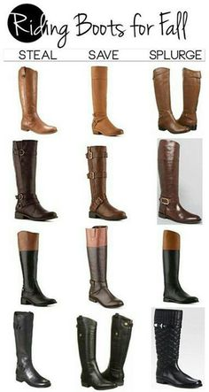 Riding boots for the fall