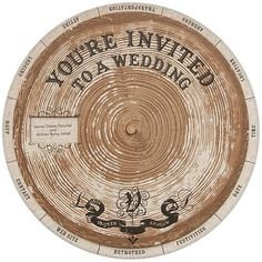 love this wheel design for invites and big life changing announcements