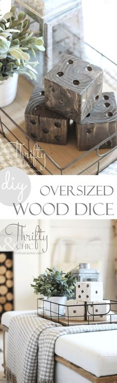 Plans of Woodworking Diy Projects - DIY oversized wood dice | 15 Easy DIY Reclaimed Wood Projects Get A Lifetime Of Project Ideas & Inspiration!  #WoodworkDIY