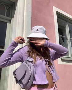 Spring Fashion Tips .Spring Fashion Tips Lila Outfits, Purple Outfits, Outfits With Hats, Retro Outfits, Trendy Outfits, Summer Outfits, Cute Outfits, Fashion Outfits, Fashion Tips