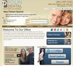 www.DrPolin.com Father & Daughter Dental Team in #BocaRaton. General Dentist + Cosemtic Dentist