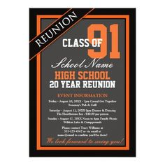 High school reunion invitation reunited and it feels so good classy formal high school reunion invitation stopboris Gallery
