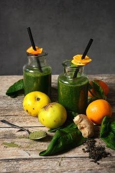Ina Is(s)t: Detox Tee-Smoothie mit Spinat und Mandarine / Detox tea smoothie with spinach and mandarin