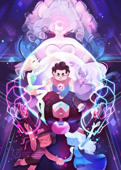 mmishee-art:Steven Universe print - Preorder the small or large print on my EtsyAHHH I love this! I had a lot of fun working on it! I've been itching to draw these characters for a while.