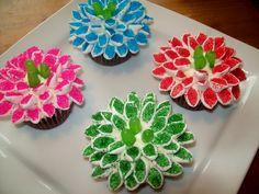 Blog Dolce Festa: Cupcake com flor de marshmallow