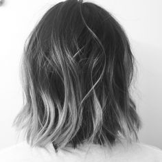Pin by Mara Kravitz on Going grey in 2019 - The most beautiful hair ideas, Ombre Hair Color, Cool Hair Color, Grey Ombre Hair Short, Grey Hair Dye, Charcoal Hair, Silver Grey Hair, Black And Grey Hair, Lob Haircut, Pinterest Hair