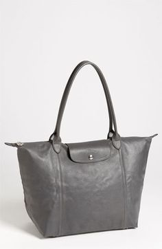 Longchamp 'Le Pliage Cuir' Leather Tote available at #Nordstrom