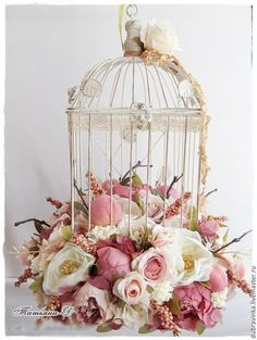 Trendy ideas for shabby chic wedding table decorations bouquets Wedding Table Decorations, Wedding Centerpieces, Wedding Bouquets, Bird Cage Centerpiece, Decoration Vitrine, Shabby Chic Crafts, Deco Floral, Lanterns Decor, Bird Cages