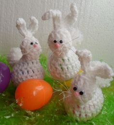 Happier Than A Pig In Mud: Crochet Easter Bunny Egg Holder-A Detailed Picture Tutorial