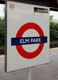 Elm Park London Underground Station in Hornchurch, Greater London