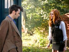 As it happens, the introduction of Amelia Pond was not contingent on the arrival of the Eleventh Doctor. Speaking to Doctor Who Magazine, Steven Moffat has explained what his basic story arc for series five would have been if David Tennant stayed on and Matt Smith not been recruited.