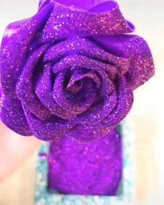 watch the video Paper Flowers Craft, Flower Crafts, Diy Flowers, Fabric Flowers, Flower Art, Paper Crafts, Diy Crafts Hacks, Diy Crafts For Gifts, Creative Crafts