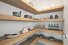 Hudson Homes Display home in Thornton Hudson Homes, Display Homes, Butler Pantry, Floating Shelves, Kitchen, Home Decor, Pantry Room, Cooking, Decoration Home