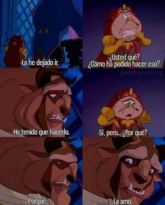 La bella y la bestia.Oh My God Disney And Dreamworks, Disney Pixar, Walt Disney, Disney Love, Disney Magic, Aladdin, Disneyland, Beauty And The Best, Disney Quotes