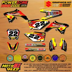 87.35$  Watch now - http://ali5wv.worldwells.pw/go.php?t=32765362538 - RMZ Customized Team Graphics Backgrounds Makita Decals Custom Stickers For RMZ RMZ250 RMZ450 04-14  Motocross Enduro Supermoto