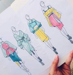 Fashion Design Inspiration Sketchbook IdeasYou can find Fashion design sketchbook and more on our website. Fashion Design Inspiration, Fashion Design Portfolio, Fashion Design Drawings, Fashion Model Sketch, Fashion Sketches, Fashion Sketchbook, Fashion Figure Drawing, Arte Fashion, Fashion Fashion