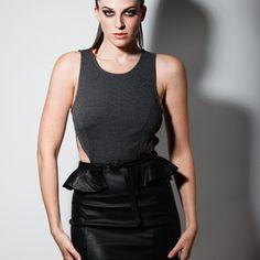 JESSAMINE black leather peplum belt. Shop online at http://boa.storenvy.com