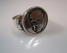 The Godfather Francis Ford Coppola Marlon Brando Portrait Ring Solid Sterling Silver 925