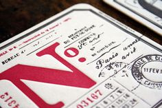 Awesome typography on letterpress coasters