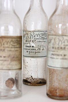 old bottles w/labels