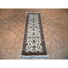 Hand Knotted Tabriz with Wool & Rug