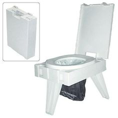 Fold-To-Go Collapsible Portable Toilet | This rugged, yet ...