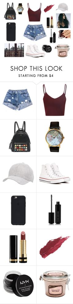 """""""The Heart Part 4"""" by nightlight62 ❤ liked on Polyvore featuring Glamorous, Revé, Fendi, Charlotte Russe, Converse, Marc Jacobs, Gucci, Lily Lolo and NYX"""